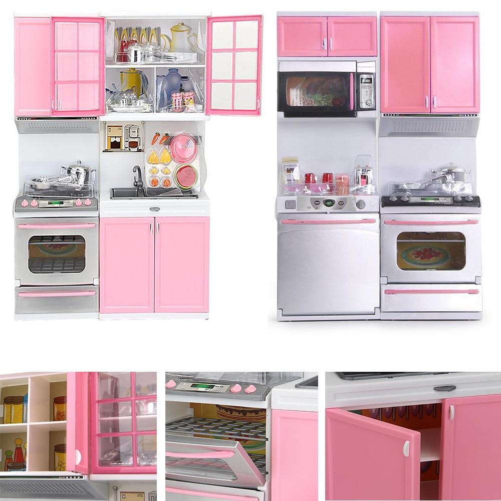 18:1 Mini Plastic Kids Kitchen Pretend Play Stove Toy Pink
