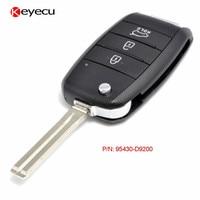 Keyecu Replacement Upgraded Flip Car Key Remote Key Fob 3 Button 434MHz ID60 6F Chip for KIA Sportage 2016 2017 P/N: 95430 D9200