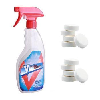 10 Uds producto de limpieza efervescente y multifuncional para aerosol, limpiador de cristales sólido fino concentrado para parabrisas, limpiador de ventanas, juguete burbujas de agua