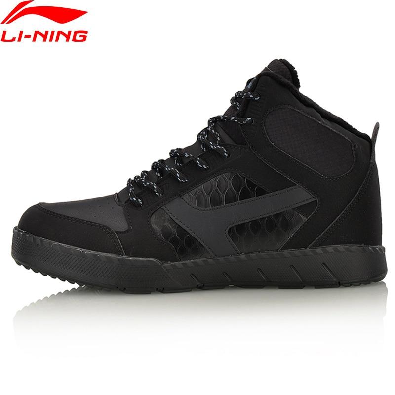 все цены на Li-Ning Men LN Hoof Winter Walking Sport Shoes WARM SHELL Wearable Anti-Slippery Sneakers LiNing Sports Shoes AGCM179 YXB118 онлайн