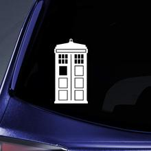 Bargain Max Decals - DW Tardis Whovian Sticker Decal Notebook Car Laptop 5 (White)
