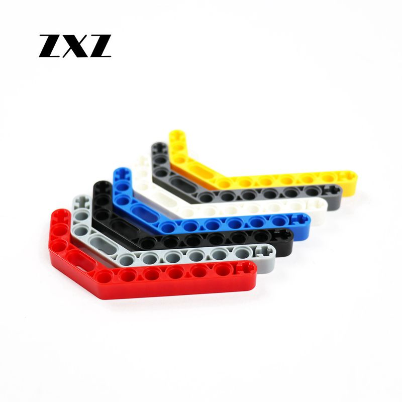 Lego Technic 10 Liftarm Thin Flat Plate 1 x 2 with 2 axle holes WHITE