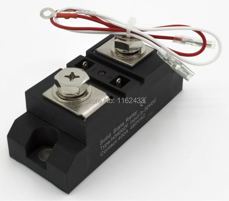 H3400ZF monophasé DC à AC 400A 24-480Vac relais à semi-conducteurs de qualité industrielle/SSR