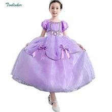 Halloween Girls Princess Rapunzel Party Costumes Puff Sleeve Dress-Up Fairy Tale Cosplay Dress Up First Communion