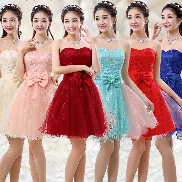 9394a850ed Corto sweetheart modest rojo azul real tulle vestido de dama de honor damas  de honor formal vestidos de novias baratos niñas bajo 50 B3399 en Vestidos  de ...