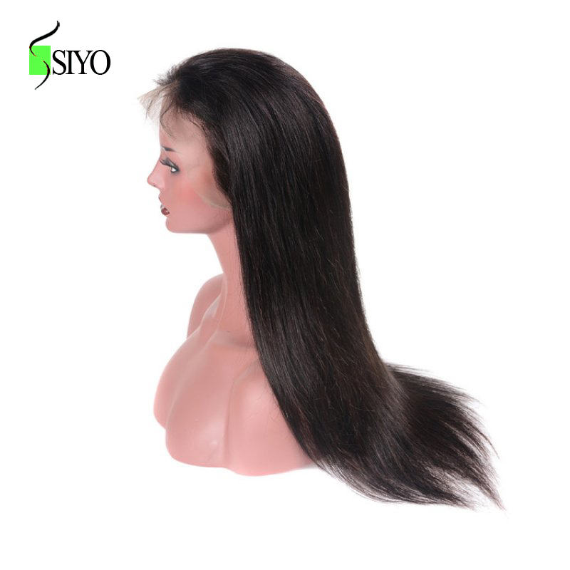Lace Frontal Wig SIYO Hair 130% Density Human Hair Wigs For Women Straight Brazilian Non Remy Hair Natural Color