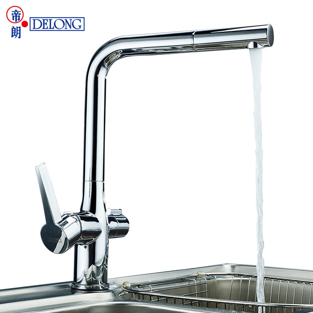 DELONG copper kitchen faucet with direct drinking water sink wash ...