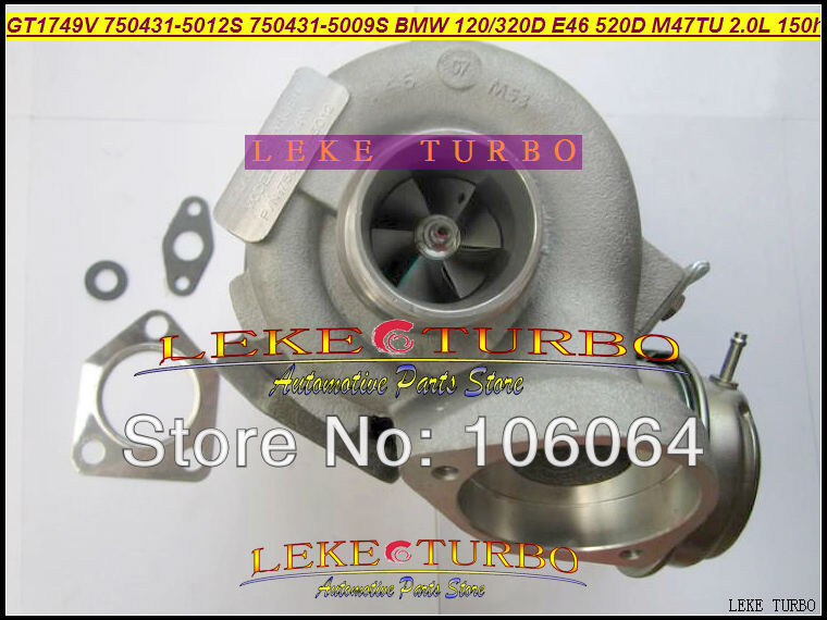 Free Ship GT1749V 750431-5012S 750431-5009S 750431 Turbine Turbo Turbocharger For BMW 120D 320D E46 520D Engine M47TU 2.0L 150HP free ship turbo rhf5 8973737771 897373 7771 turbo turbine turbocharger for isuzu d max d max h warner 4ja1t 4ja1 t 4ja1 t engine