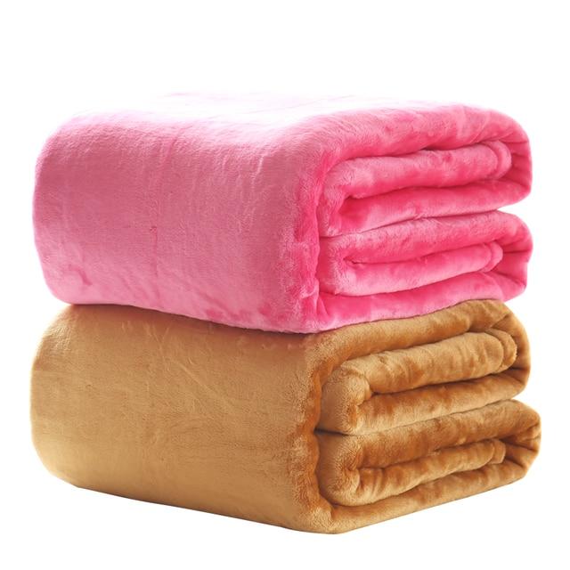 Manta de franela de color sólido sofá/cama lanza suave mantas de ...