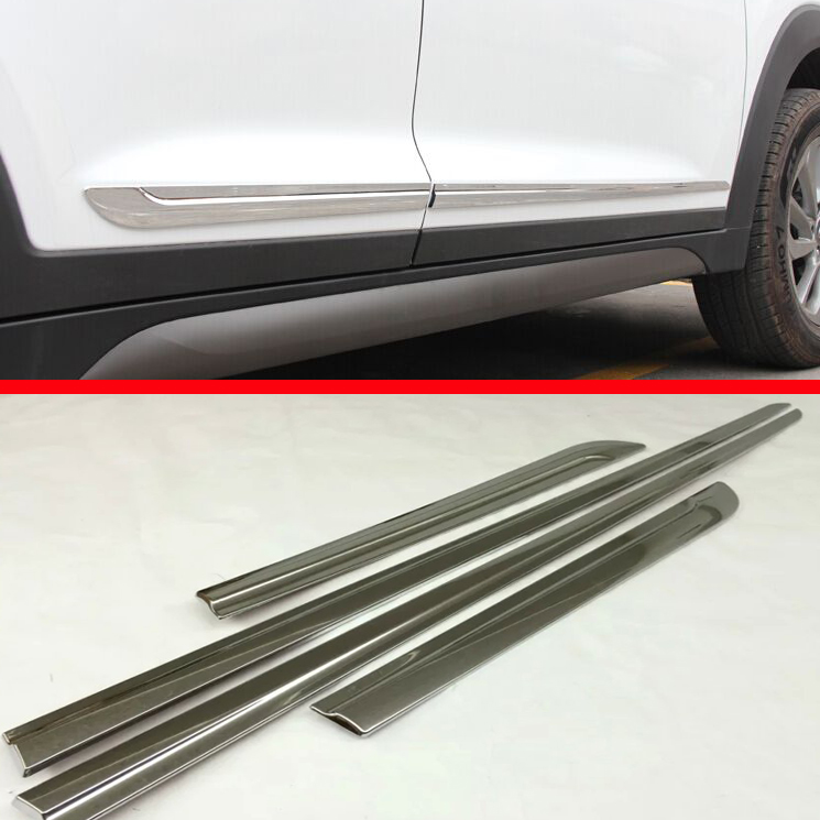 Hyundai Tucson Exterior Door Trim: For Hyundai Tucson 2016 2018 ABS Chrome Side Door Body