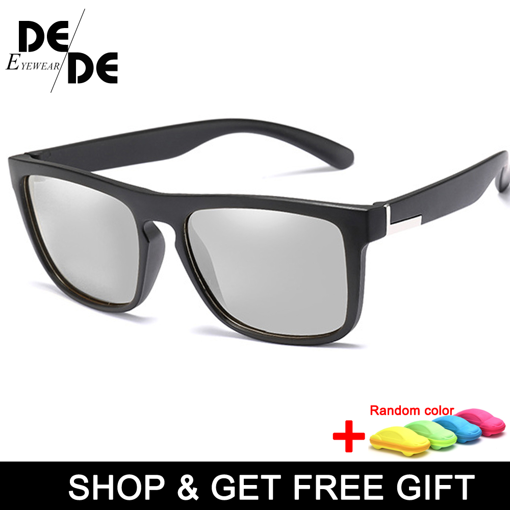 HD Polarized Photochromic Sunglasses Men Driving Chameleon Glasses Male Day And Night Vision Driver Goggles with box in Men 39 s Sunglasses from Apparel Accessories
