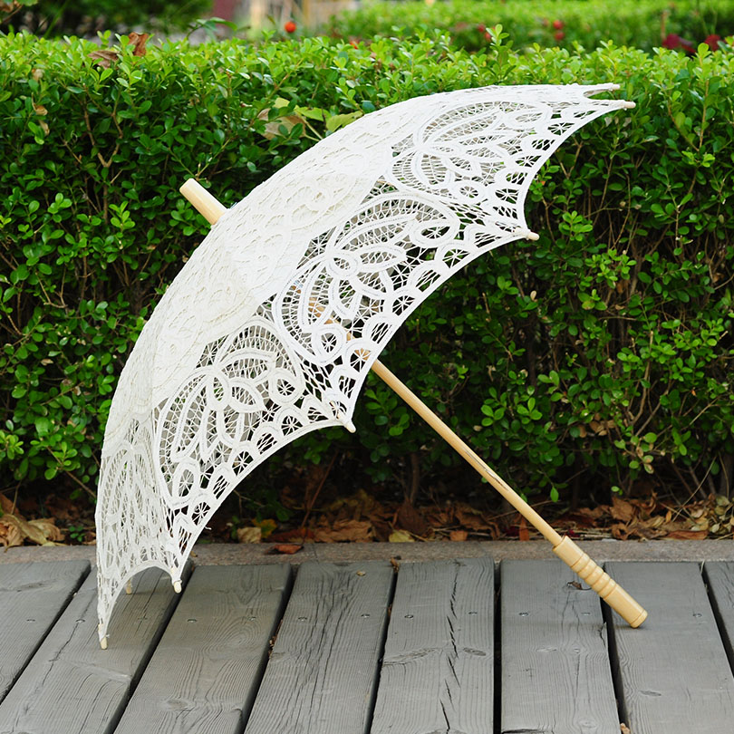 QUNYINGXIU Renda buatan tangan Sunny Payung Proses Lace Umbrella Fotografi Recital Dance Wedding Decoration Sun Umbrella
