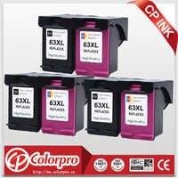 Recambio CP 63 para cartucho de tinta HP63 63XL para impresora HP Officejet 3833 5255 5258 4650 3830 HP DeskJet 2130 1112 3632 (3BK/3C)