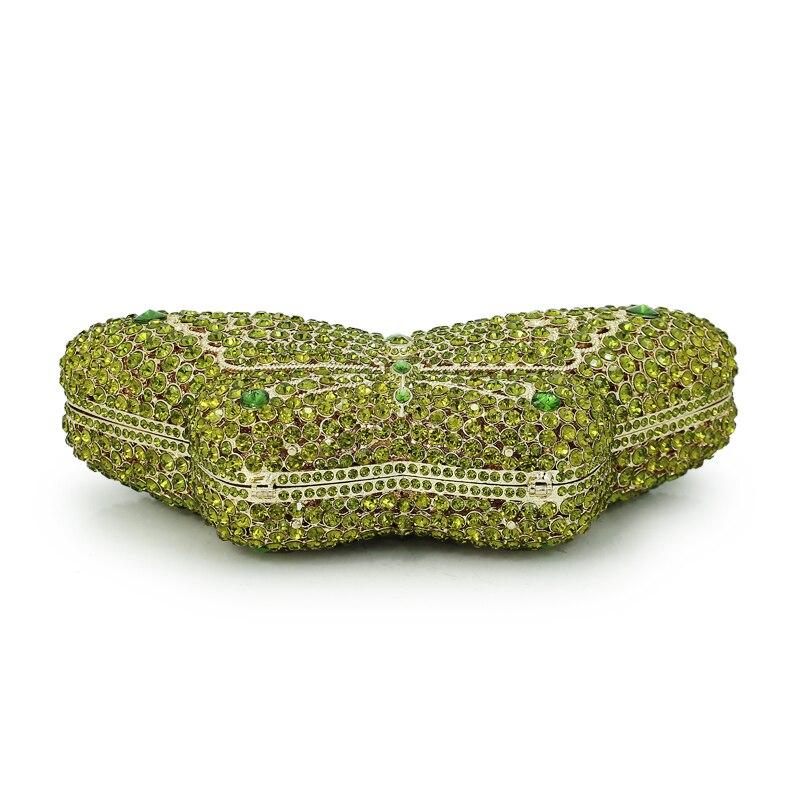 Bourse Forme Parti Nouveau noir Luxe Soirée Sacs Embrayage Cristal À Vert Émeraude Mariage Papillon Pierre Sac Diamant De Beige Dames Main Fw5qaAwT