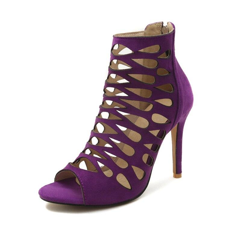 Out Big Hallow Viola Scarpe Toe Nero 46 Ladies alto Size Peep Marrone Gladiator donna Sexy eleganti tacco con Sandali Wetkiss Sandalo Donna xqwBXYdq