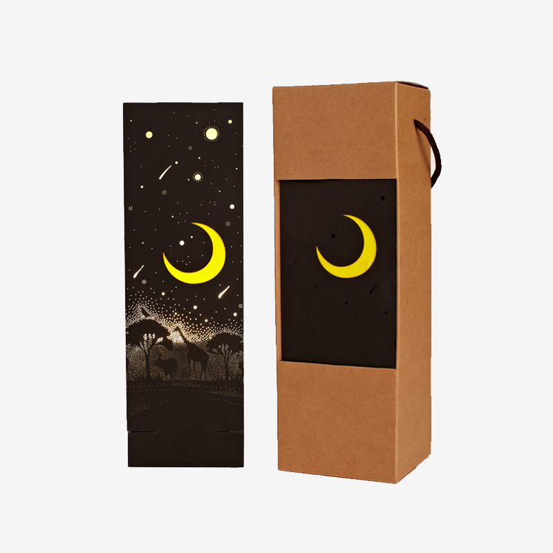 Night Light Triangle Lantern Meteor Shower Creative Lighting Decoration Paper Carving Crafts