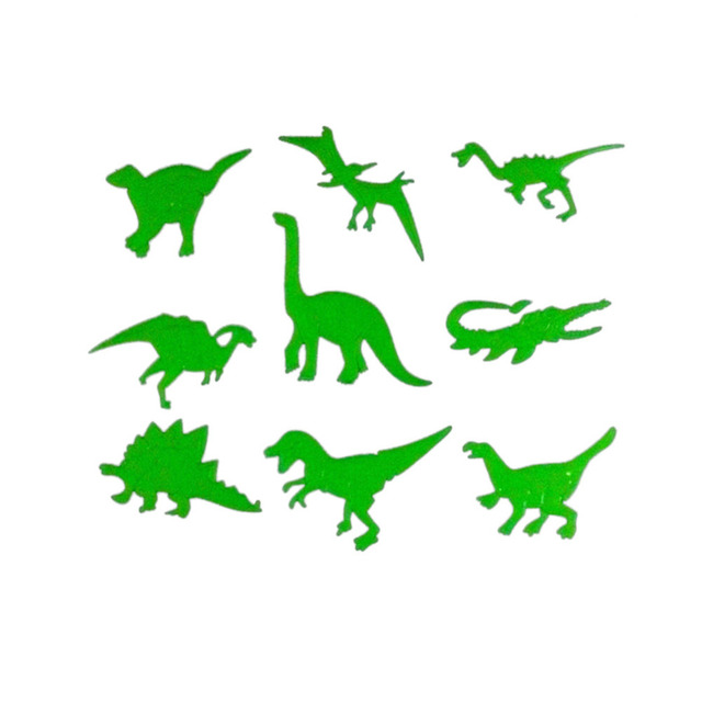 glow in the dark jurassic dinosaurs wall stickers boys bedroom