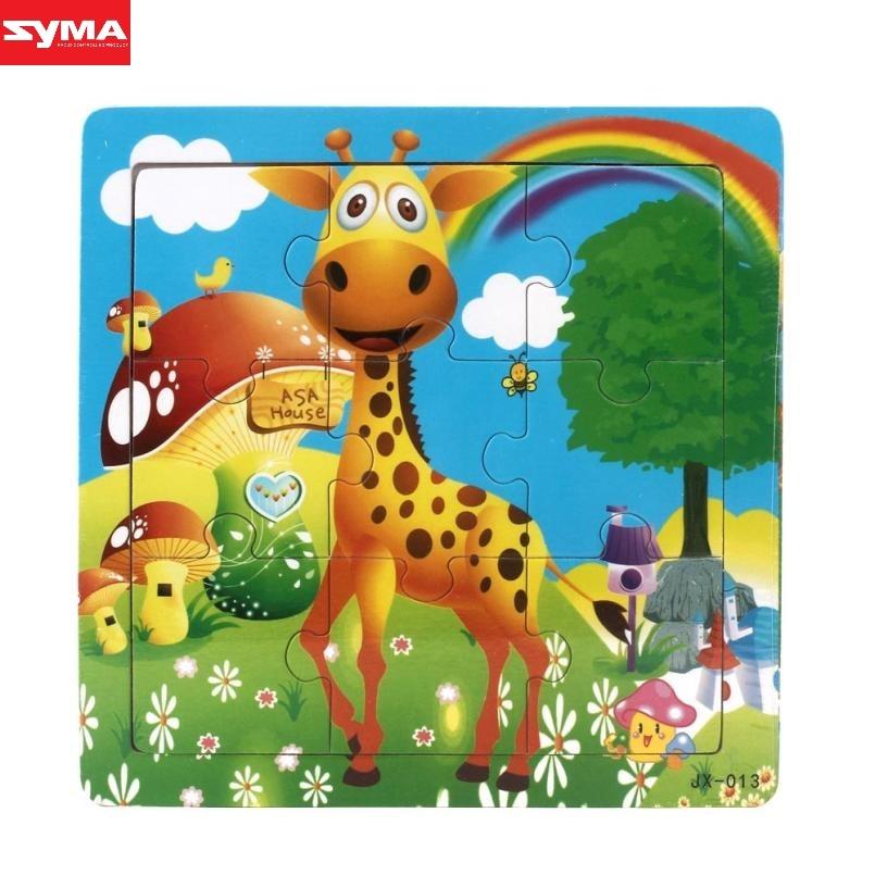 SYMA Jigsaw toy Wooden Kids Jigsaw For Children Education And Learning Toys cartoon wooden giraffe jigsaw toys dec23