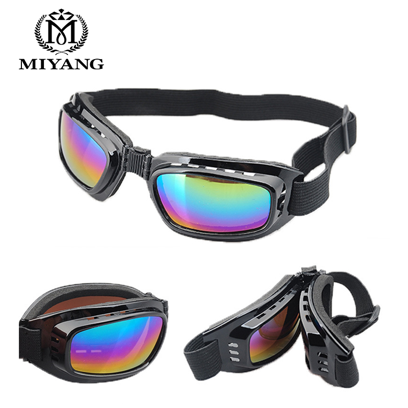 Folded Frame Retro Wind Mirror Motorcycle Glasses Skiing Glasses Anti-Guards Goggles Crossing Goggles Anti-fog Eyewear RU129