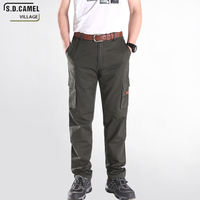 Outdoor Military Plus Size Cotton Casual Pants Men Cargo Pants Boys Trousers Fashion Solid Multi Pocket