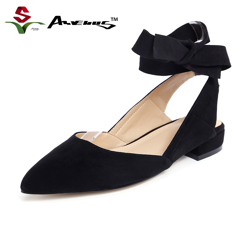 Anvenus Women Fashion Flock Kid Suede Mules Lady Sexy Ankle Strap Pointed Toe Flats Summer Shoes Party Casual Daily Brand Design meotina brand design mules shoes 2017 women flats spring summer pointed toe kid suede flat shoes ladies slides black size 34 39