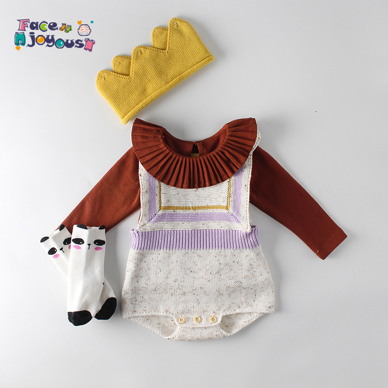 Knit Baby Clothes Newborn Baby Knitted   Romper   Woolen Tassel Infant Baby Jumpsuit Outfits Boy Girls Overalls Baby Girl   Romper