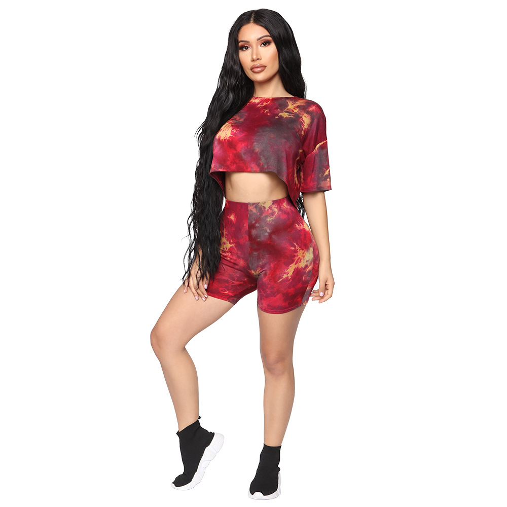 Summer Women Two Piece Set Top And Pants Plus Size Outfits Tracksuit Sweatsuit Outfit Loose T Shirt And Shorts Casual Sets