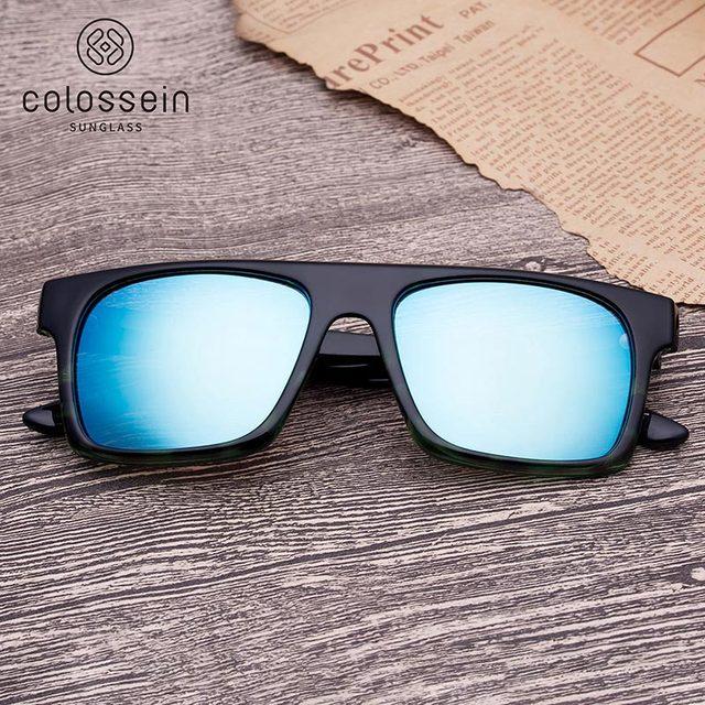 COLOSSEIN Classic Sunglasses Fashion Formal Sunglasses Women Pilot Black Frame UV400 Glasses Female Fishing Driving Eyewear 4