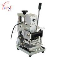 HOT! 1 PCS STAMPING MACHINE TIPPER BRONZING PVC CARD + 1 GRÁTIS FOLHA de PAPEL 110/220 V|card machine|paper machine|card card -