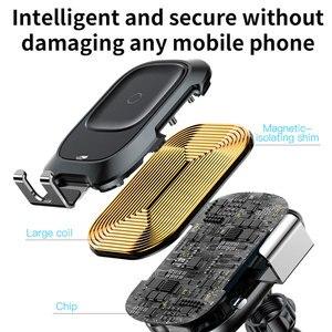 Image 4 - Baseus Draadloze Oplader Auto Telefoon Houder Voor Iphone Xs Max Xr Snelle Draadloze Opladen Voor Samsung Note9 S9 Auto Houder lader