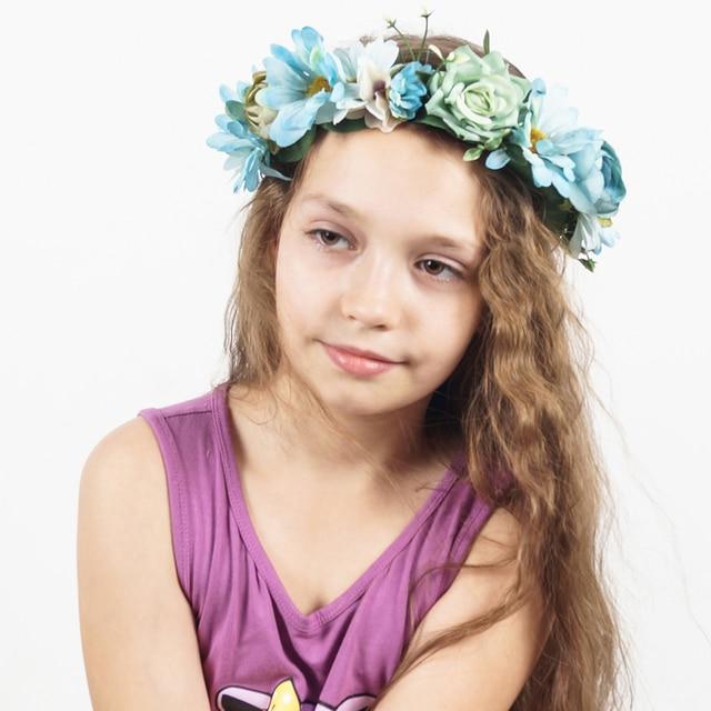 1piece Girl Flower Headband Wedding Beach Hair Accessories Fabric