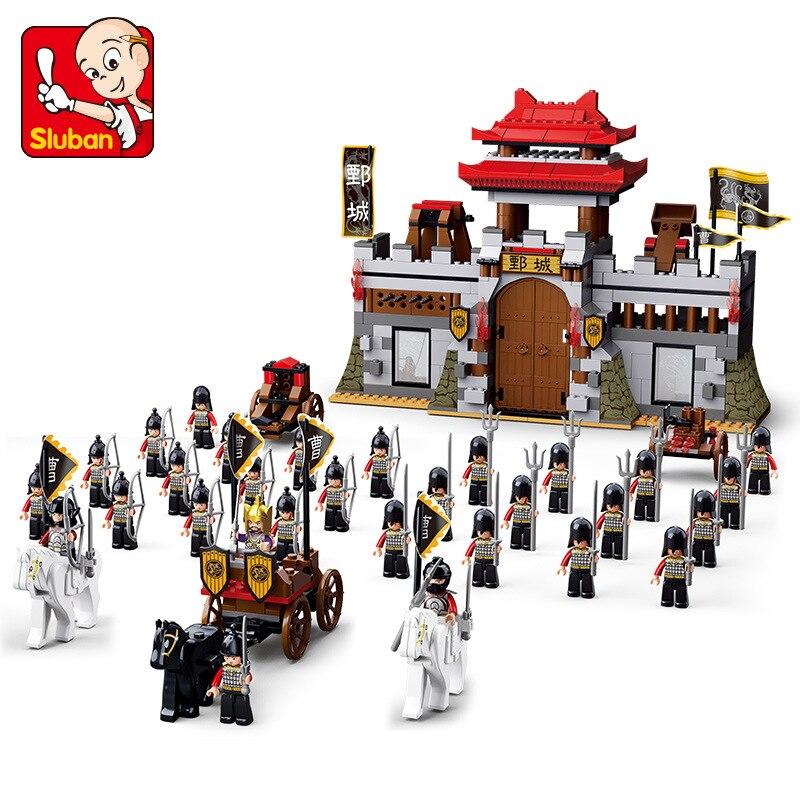 0578 688pcs Sanguo Constructor Model Kit Blocks Compatible sluban Bricks Toys for Boys Girls Children Modeling