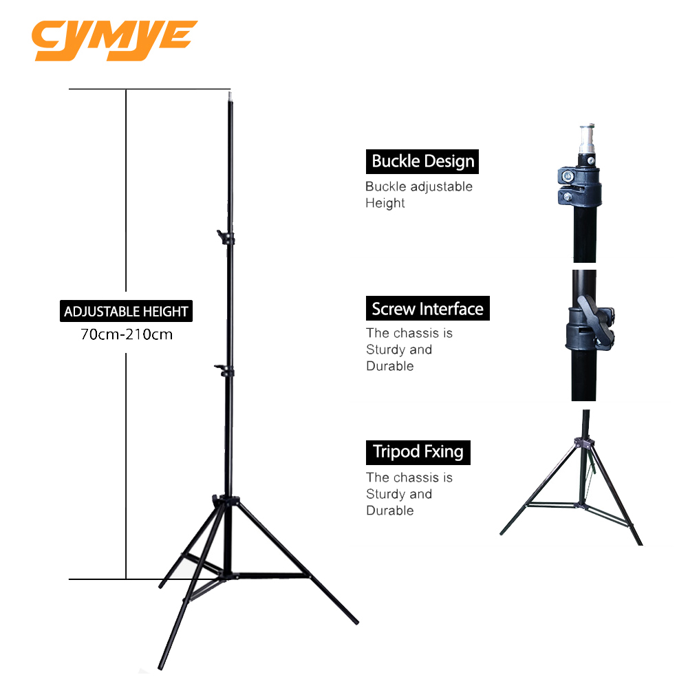 "Cymye 6'56"" 2m Light Stand Tripod Photo Studio Accessories For Softbox Photo Video Lighting Flashgun Lamps /umbrella Flash"