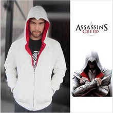 Ainiel  Assassin's Creed 3 Desmond Miles Hoodie Costume Coat Jacket Cosplay Hoodie  Embroidered Assassins Creed 3 hoodies cs2417