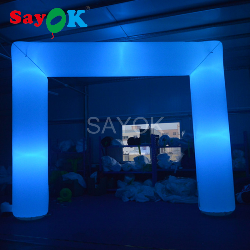 Cheap led inflatable arch rental wedding arch advertsing archway with air blower, led light