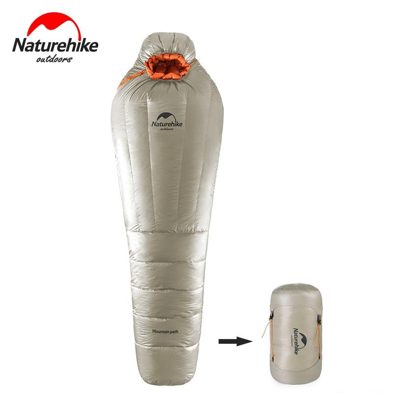 Naturehike 2017 nouveau matériel de camping sac de couchage momie extérieure randonnée ultra-léger compression sommeil sacs garder au chaud par temps froid