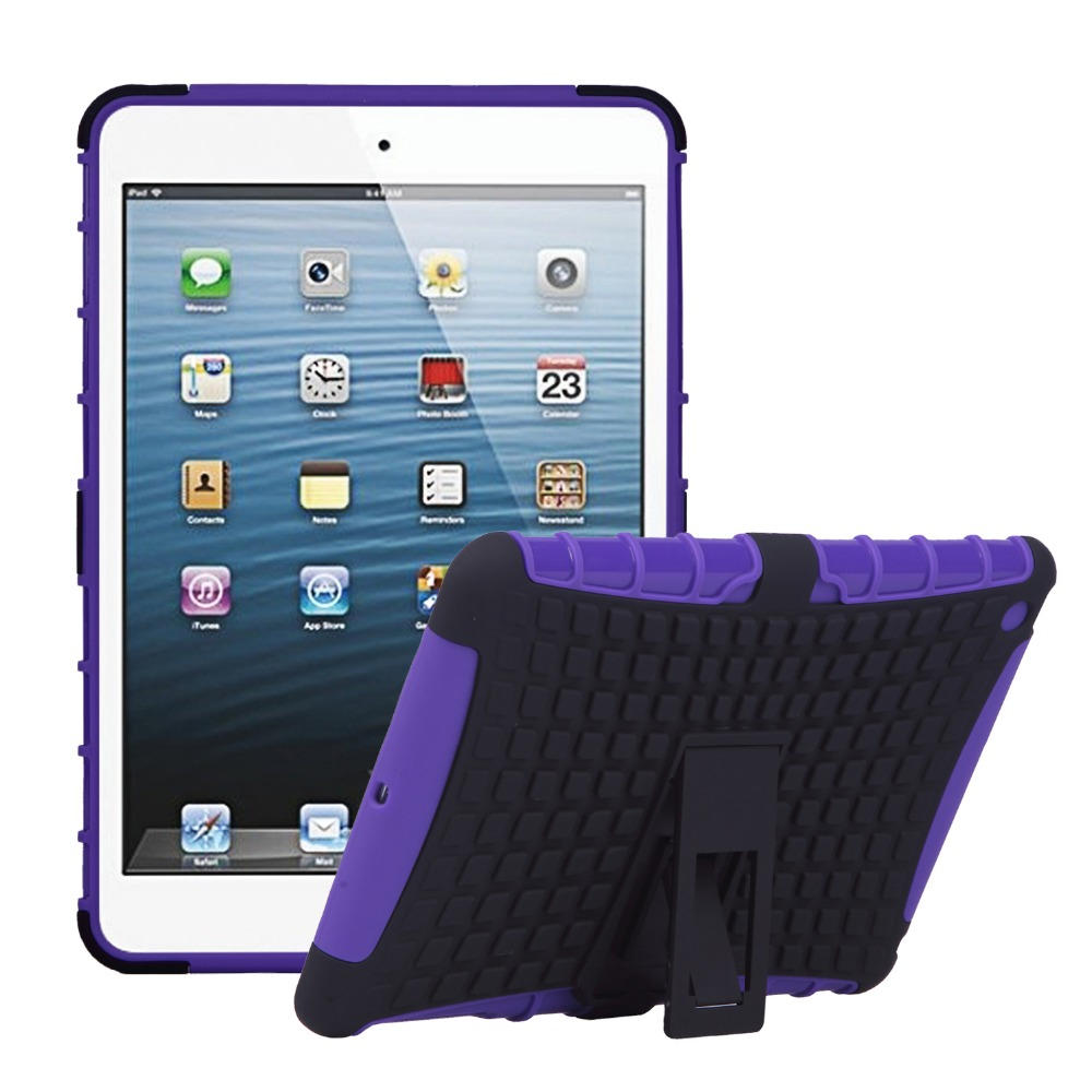 Shockproof Kids Safe Heavy Duty Stand for iPad mini 1,Case for iPad mini 1 7.9 inch Protective Shell Film + Stylus + Cloth