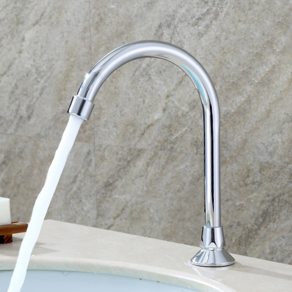 Kitchen Water Faucet Foot Pedal Valve Copper Bathroom Basin Faucet Single Cold Tap Water Faucet
