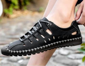 New Krasovki Man Summer Leather Casual Shoes Hot Sale Brand Male Breathable SlipOn Water Shoes Tenis Masculino Adulto Chaussures