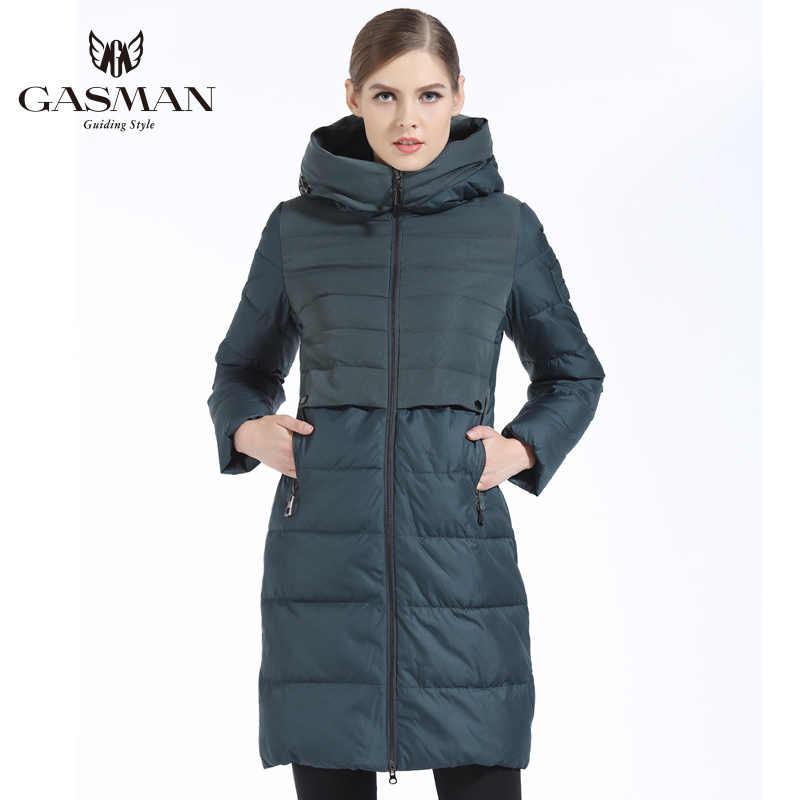 GASMAN 2019 מותג נשים חורף מעיל Slim ארוך נשים עבה למטה דובון סלעית נשים של מעיל ביו למטה מעיל לנשים