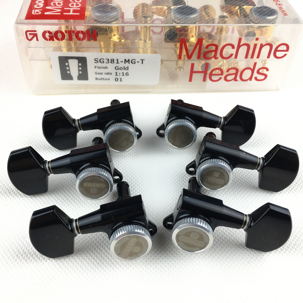 лучшая цена Original GOTOH SG381-01-MGT Electric Guitar Locking Machine Heads Tuners Black Tuning Peg MADE IN JAPAN