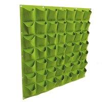 VICTMAX Parete Hanging Piantare Borsa Non tessuto sacchetto Orto Impianto di Innaffiamento Wall Garden Bag-Verde
