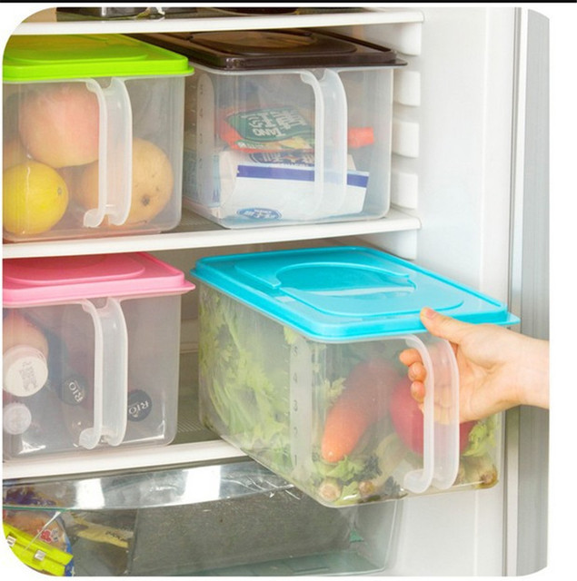 Kitchen Container Stackable Storage Box With Handles Rice Holder Box Refrigerator Cabinets Covered Storage Box Rice  sc 1 st  AliExpress.com & Kitchen Container Stackable Storage Box With Handles Rice Holder Box ...