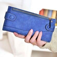 1 stück Vintage PU Leder frauen Brieftasche Reißverschluss Und Haspe Geldbörse Lange Damen Handtaschen Phone Cases — BIC012 PM30