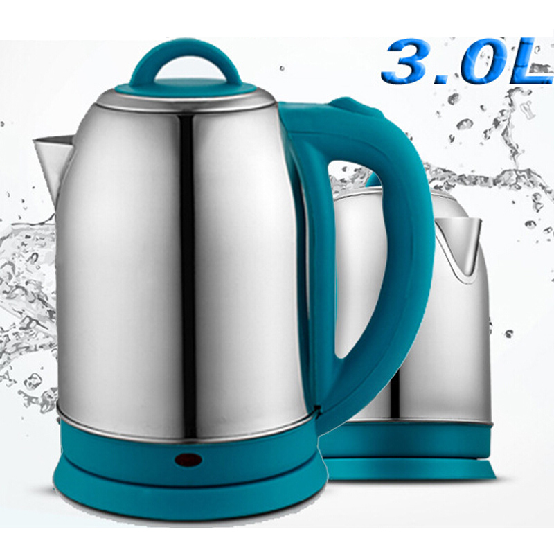 VOSOCO Electric kettle Heating Hot Water Split Style Stainless Steel Liner Quick Heating Auto 1500W 3.0LPrevent dry burning cukyi stainless steel 1800w electric kettle household 2l safety auto off function quick heating red gold