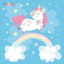 Yeele Unicorn Birthday Party Decor Photocall Rainbow Photography Backdrop Personalized Photographic Backgrounds For Photo Studio