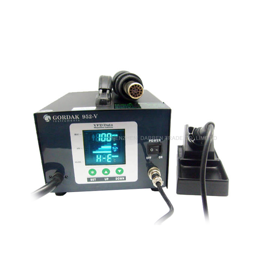 New 580W Gordak 952V soldering station + hot air heat gun 2 in 1 SMD BGA rework station new soldering station hot air heat gun 2 in 1 smd bga rework station