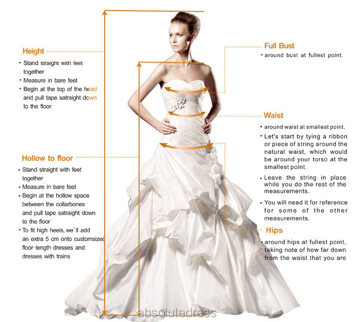 We recommend that you get a qualified seamstress or get someone else to  measure your dress size. f3ffd329932c