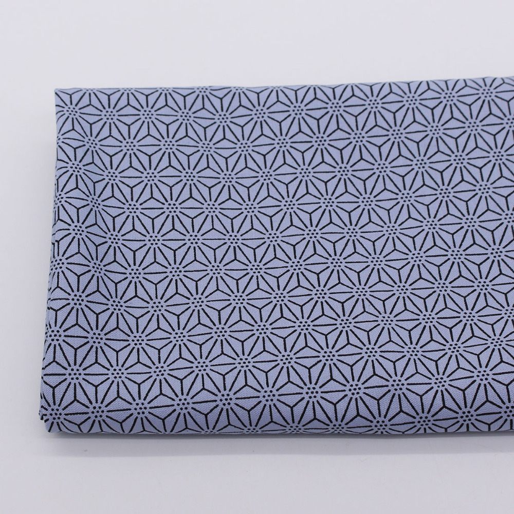 Japanese nail geometric moire quilting fabric cotton cloth for Cloth material for sewing