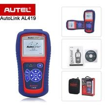 Autel AutoLink AL419 OBDII/CAN code reader/scanner com definições DTC, apaga códigos e redefine monitores